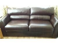 Chocolate brown double sofa-bed as new bed has never been used