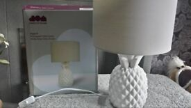 PINEAPPLE LAMP new boxed £10 White base Grey shade