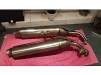 Genuine Honda CBF1000A Exhaust Silencers