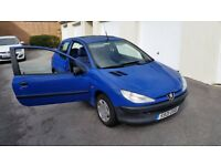 Peugeot 206 diesel 88k with long MOT
