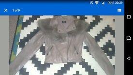 Topshop grey biker jacket