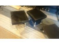 Ikea Black 2x Lack, 2x Ekby Jarpen shelfs. 4 sets of Capita table/desk legs