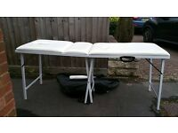 Ivory foldable massage bed good condition only a few marks