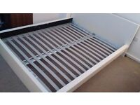 IKEA Queen size Double Bed. White. w/ LURÖY slats and free SULTAN HAMNVIK Mattress