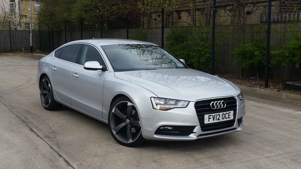 2012 audi a5 2 0 tdi se auto 5 door sportback silver s line black edition spec 1 owner sat nav. Black Bedroom Furniture Sets. Home Design Ideas