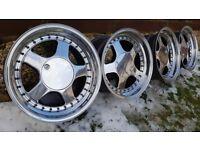 Keskin KT1 16's 4X100 all J9 ET15 VW GOLF JETTA BMW E30 MINI CLIO CORSA