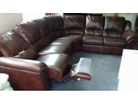 REAL LEATHER...Quality.... Seduta d'Arte RECLINER CORNER SOFA...Local Delivery...