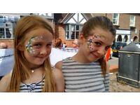 Face painter, For face painting glitter tattoos, bling / gem clusters, festival glitter