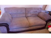 3seater sofa with arm chair and foot stool