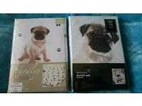 New two double sets pug