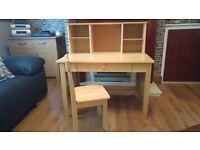 Child's Solid Desk + Chair