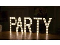 ****5ft LED PARTY LETTERS (For Hire London & Surrey only) ****