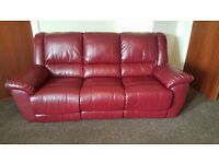 3 seater double recliner sofa