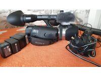 Sony NEX VG 20 with accessories