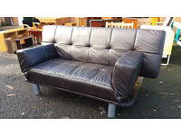 Click drop leather sofa bed