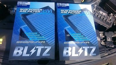 BLITZ POWER RACING VQ HR PERFORMANCE ENGINE AIR FILTER 2PCS FOR NISSAN 350Z 370Z