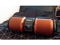 CD PLAYER Sharp Boombox USB/Remote/AUX/Radio/Guitar Input etc