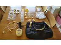 Medela Freestyle double breast pump and accessories
