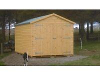 16ft x 9ft Wooden Garage with Floor