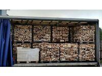 Cage of kiln dried hardwood logs