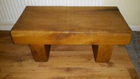 Impressive Solid Oak Coffee Table - Cost £249