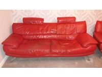 Red 3 piece sofa suite for sale £100