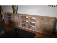 Reclaimed scaffold furniture