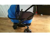 🌟ICANDY PEACH 3 IN COBALT BLUE WITH BLACK CHASSIS FULL TRAVEL SYSTEM🌟