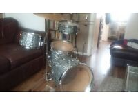 Drum Kit with Remo heads and accessories