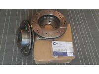 Ford Sierra 4x4 2.0 90-93 - Drilled & Grooved Front Brake Discs