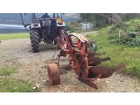 Massey Ferguson three furrow plough.