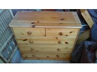 pine chest of drawers - free local delivery