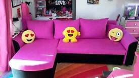 LIKE NEW HOT PINK SOFA/STORAGE/DOUBLE BED