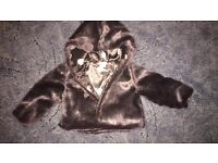 Mamas and Papas 18-23 Months Fur Coat ***CASH ON COLLECTION**