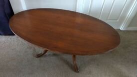Antique Style Oval Coffee Table