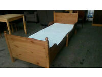 Solid Pine Extendable Toddler Bed