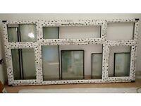NEW triple glazed UPVC white Chamf window