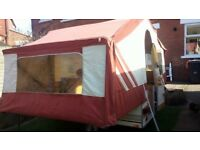 Pennine 4 berth Trailer Tent lovingly restored