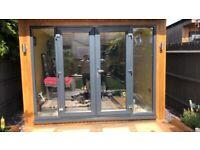 French Door size 120cm x 203cm + 2 side panels 45cm x 203cm