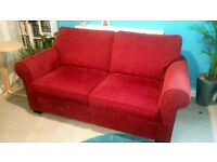 2 Seater Sofa Bed, Armchair and Storage Stool.