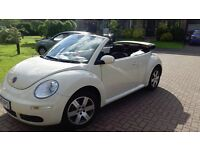 2008 VW Cream Convertible Beetle for sale, REDUCED to £3,500 ono