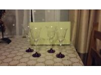 Set of 4 Galway wine glasses