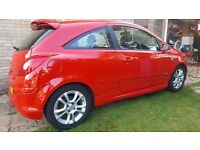 Vauxhall Corsa SXI Red Manual Petrol 1.2 Sports body kit