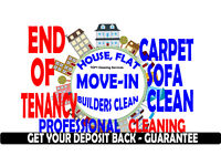 SPECIAL OFFER! 24HRS END OF TENANCY PROFESSIONAL CLEANERS, CARPET CLEANING LONDON, BUILDERS DOMESTIC