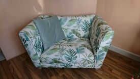 Never Used Botanic Pattern Cuddler Sofa