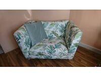 Never Used Botanic Pattern Cuddler Sofa