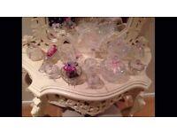 Wedding sweet table jars, vintage crystal cut glass sweetie jars