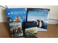 frozen planet and planet earth dvds and books(4pieces)
