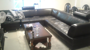 Leather couch Kirrawee Sutherland Area Preview