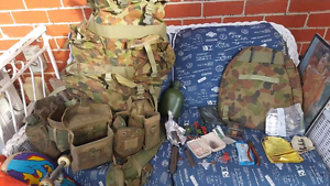 Army webbing and rucksack Coolaroo Hume Area Preview
